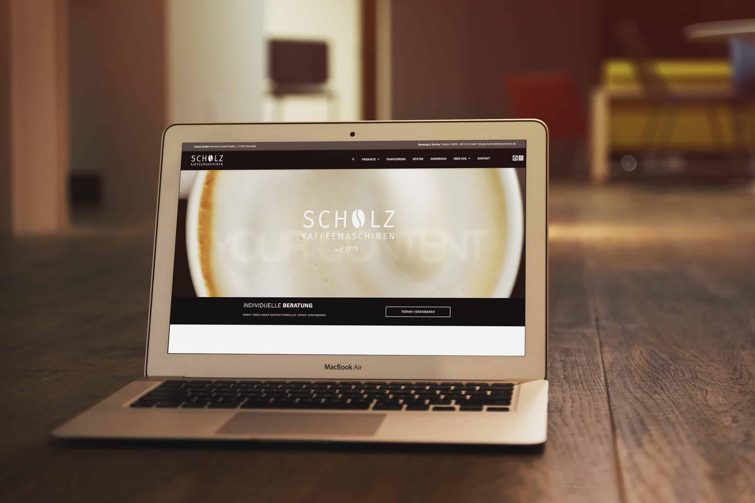 Website Scholz Kaffeemaschinen